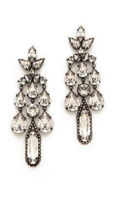 ____Annie Costello Brown____ Pom Pom Chandelier earrings ...