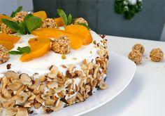 Seitenansicht Giotto Pfirsich Torte