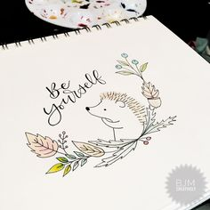 "340 kedvelés, 18 hozzászólás – Barb Moffitt (@bjmcreatively) Instagram-hozzászólása: ""For my challenge #letterswithbarb #beyourself and draw a cute #hedgehog because they are adorable.…"""
