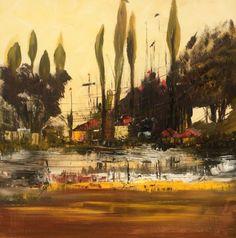 """""""Leusden"""" Acrylic painting 70x70cm (2016) Pintura acrílica by  by Mo Tuncay #painter #painting #artist #art"""