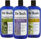 Spa time with Dr. Teal's Foaming Bath. Luxurious essential oils soothe your senses.