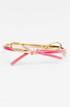 Kate Spade bow bangle perfect for the girly girl who has everything
