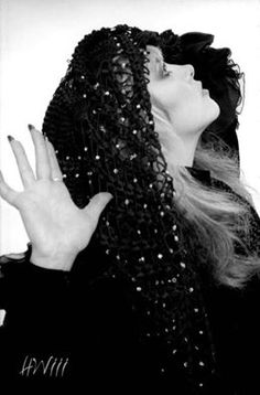 a stunning photo of Stevie  ~ ☆♥❤♥☆ ~    wearing a beaded shawl over her hair ~ photo taken by Herbert W. Worthington 111