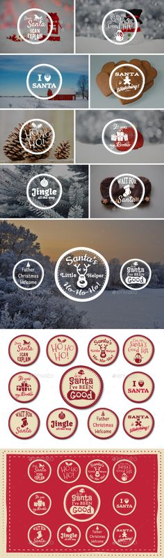 Funny Christmas Badges Collection - Download…