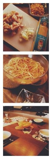 #riesenschüssel #spaghetti #tomatensosse #hähnchen #mais #ordentlichgewürze #tomatenmark #männerhabenhunger  #selfmade #foodporn #antitütenkochen