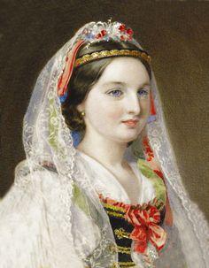 Archduchess Clotilde, Countess Palatine of Hungary and born Princess of Saxe-Coburg Gotha Kohary, wife of Archduke Joseph of Austria by ?
