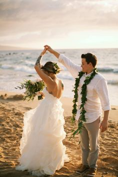 Beach Newlywed Dance - Anna Kim Photography