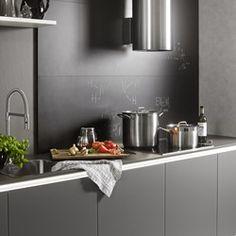 Cuisine design allemande en laque mate blanche et grise SOFT LACK ...