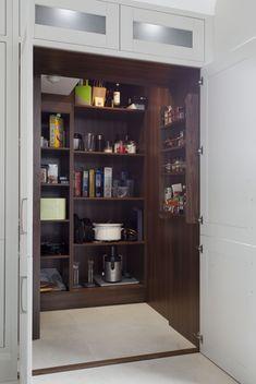A spacious interior larder designed by Dorans Kitchen & Home.