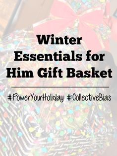 Winter Essentials for Him Gift Basket Tutorial!  #PowerYourHoliday #CollectiveBias #ad - sixtimemommy.com
