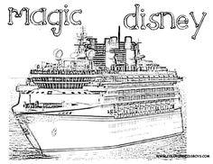 Disney cruise navigators disney fantasy 7 night 04 13 13 for Coloring pages cruise ship