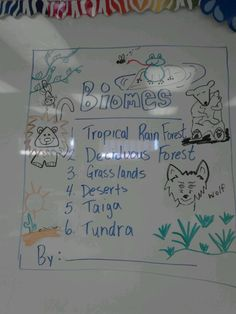 Create a book of biomes with title page within interactive science notebook.