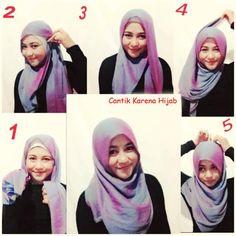 Tutorial Hijab By Mayra Hijab: Tutorial Kerudung Segi Empat Praktis