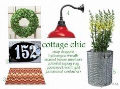 cottage and vine: cottage chic front porch style