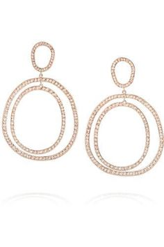 Ileana Makri Again Double 18-karat Rose Gold Diamond Earrings jFQILYEgT