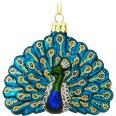 Are you looking for Peacock Christmas Ornaments? You'll find plenty of absolutely beautiful Christmas Peacock Ornaments perfect for your Christmas Decor. Peacock Christmas Tree, Peacock Ornaments, Bird Ornaments, Handmade Ornaments, Glass Christmas Ornaments, Xmas Tree, Christmas Gifts For Women, Christmas Themes, Christmas Decorations