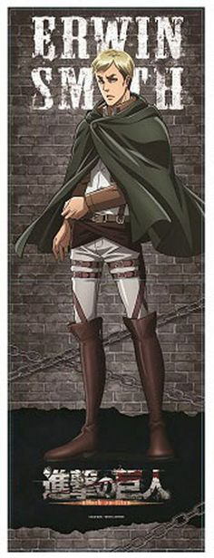 "Product Details: Type: Open-Close Long Folder Size (Closed): A4 ~ Approximately 8.2"" (210mm) x 11.6"" (297mm) Materials: PP, Velcro Character: Erwin Smith Series: Shingeki no Kyoujin / Attack on Titan"