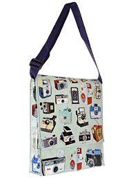Vintage Camera Print Messenger Bag