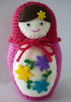 Russian Matryoshka Babushka Doll Crochet Pattern