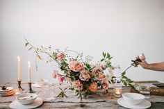 I love the asymmetrical design of this floral arrangement. I like how it's looks less posed and more natural. I don't like the standard circle arrangements. Centerpiece Decorations, Floral Centerpieces, Table Centerpieces, Wedding Centerpieces, Floral Arrangements, Wedding Bouquets, Wedding Decorations, Centrepieces, Reception Table