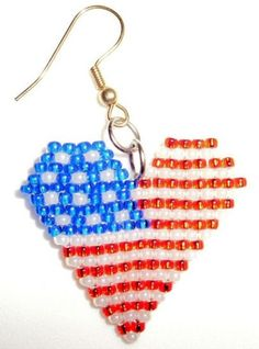 How to Do Native American Beadwork | Native American Beaded Earrings God Bless You and the USA | jstinson ...