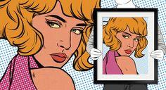 Comic Book Portraits from Photos Comic Book Style, Comic Books, Pop Art Artists, Portraits From Photos, Framed Prints, Canvas Prints, A Comics, Your Best Friend, Cotton Canvas