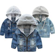 Floral Shirt + Shorts Set – toocuteforme Boys Denim Jacket, Kids Coats, Warm Autumn, Kids Store, Jeans For Sale, Denim Fabric, Hoods, Kids Outfits, Winter Jackets