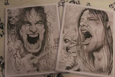 Iron Maiden caricature set by Sheik by PartsUnknownPosters on Etsy