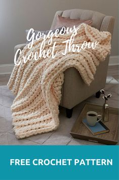 Gorgeous Crochet Throw #crocheting #crochetlove