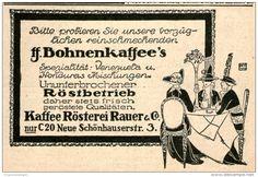 Original-Werbung/Anzeige 1914 - BOHNENKAFFEE / RAUER BERLIN. ca. 90 x 60 mm