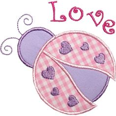 Love Bug Applique Design