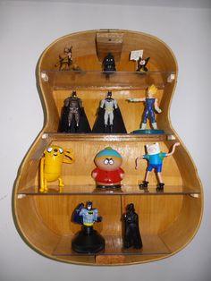 Guitar shelf on pinterest music furniture guitar for Acoustic guitar decoration ideas