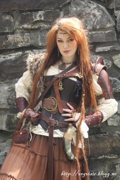 Viking leather look