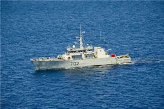 Canadian Forces Kingston-Class coastal defense vessel HMCS Nanaimo (MM 702) sails off the coast of Southern California as part of Rim of the Pacific (RIMPAC) Exercise 2014 on July 17, 2014.   (U.S. Navy photo by Chief Mass Communication Specialist Mark C. Schultz)
