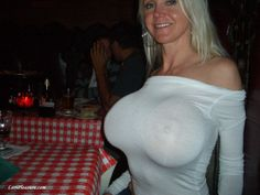 "bimbotraniee:  lookingformybimbo:  boysdrooool:  ""Mommie just loves this dress!! You are such a sweety for buying it for me…""  Now this is a bimbo to learn from.  Giant tits. No bra. Public setting. A somewhat see thru tight white top.  Pay attention bimbos in training!  i really really really love this picture and very much agree with looking hehe"