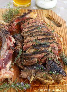 De vous à moi...: Couscous Vert et Côte de Boeuf à la Plancha, Sauce Barbecue