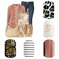 Jamberry Spring Butterfly Effect, Country Club, Rose Gold, Chantily, Leopard Jamberry Tips, Jamberry Fall, Jamberry Nail Wraps, Jamberry Outfits, Jamberry Style, Jamberry Facebook Party, Jamberry Party, What's Your Style, Style Me