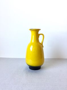 Vintage Vase, Jasba Vase , Mid Century Keramik, West German Pottery, Made in Germany, Vase Gelb von moovi auf Etsy