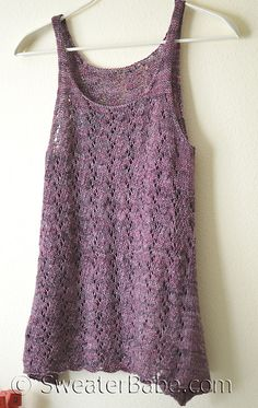 Ravelry: #203 Falling with Grace Tank pattern by SweaterBabe