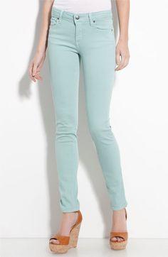 paige denim mint skinny jeans