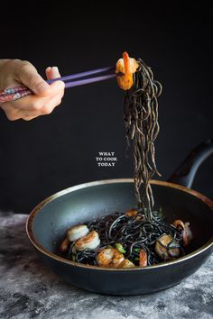 How to make Homemade Squid Ink Ramen and Buttered…