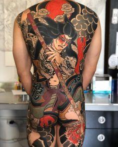 Japanese Back Tattoo, Japanese Tattoos For Men, Japanese Dragon Tattoos, Traditional Japanese Tattoos, Japanese Sleeve Tattoos, Back Tattoos For Guys, Full Back Tattoos, Full Body Tattoo, Dragon Sleeve Tattoos