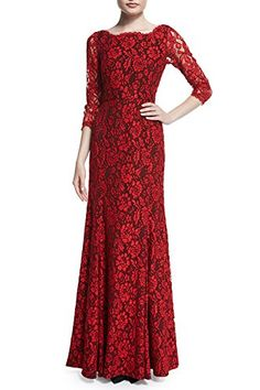 Viwenni Women's Lace 2/3 Sleeves Long Bridesmaid Prom Homecoming Gown Long Dress(red,L) - http://best-women-shop.xyz/2016/06/13/viwenni-womens-lace-23-sleeves-long-bridesmaid-prom-homecoming-gown-long-dressredl/