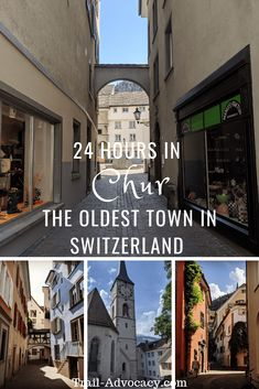 The oldest town in Switzerland dates back to 3900 BC! It's had its share of fires and rebuilds but the old town is still adorably quaint nestled in the mountains. It was a great stop off from the Glacier Express! Travel Tips For Europe, Backpacking Europe, Europe Destinations, Travel Packing, Solo Travel, Budget Travel, Chur, Cool Places To Visit, Places To Travel