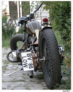 Oh my. You dont see many custom BMWs like this low-slung bobber. bmw-motorcycles