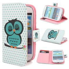 Wallet Owl Flip Stand Case Cover Skin For Samsung Galaxy S4 Mini i9190 YLM03