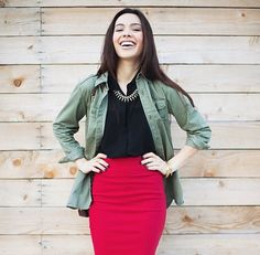 Lavenda's Closet rocking our Cherry Pencil skirt!