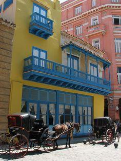 Coche de caballos en Cuba