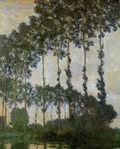 Claude Monet, Poplars Near Giverny.