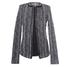 Kelly Scott London Claire Boucle jacket with Leather Trim. Bang on trend for this season! We LOVE! £95